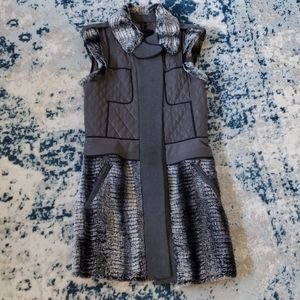 BCBG Archer Faux Fur Vest in Grey